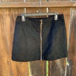 H&M Faux Suede Mini Skirt